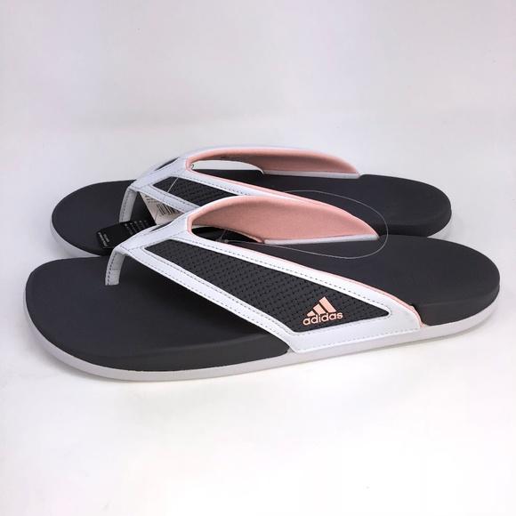 hot sale online b479a 88f96 Adidas Adilette CF Womens Sandals Gray Size 10